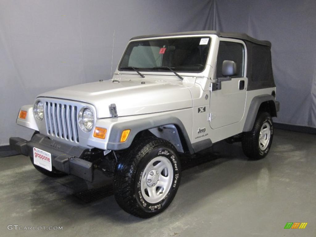 Bright Silver Metallic Jeep Wrangler