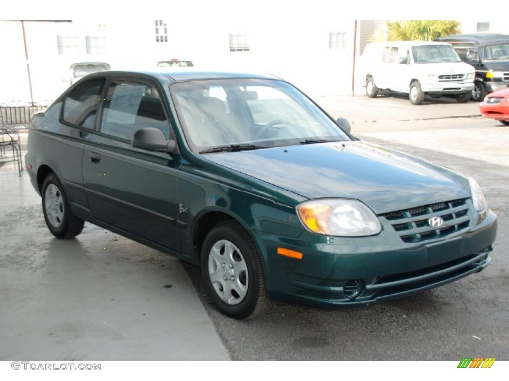 2005 Quartz Green Hyundai Accent GLS Coupe 26881761
