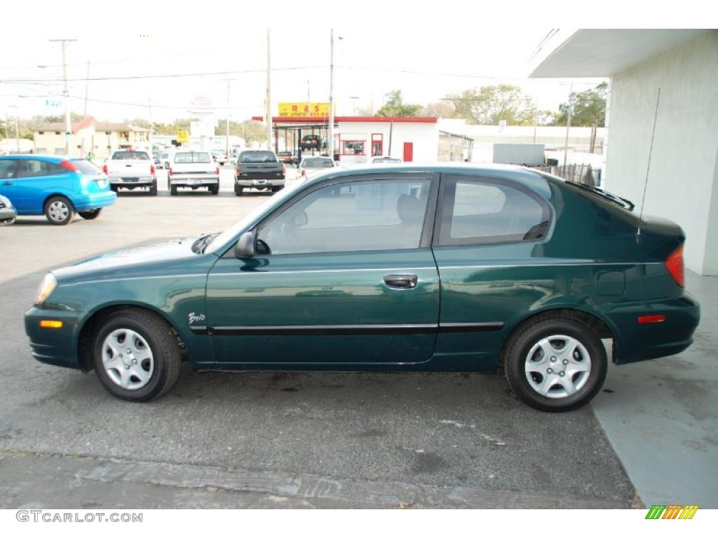 2005 Quartz Green Hyundai Accent GLS Coupe 26881761 Photo