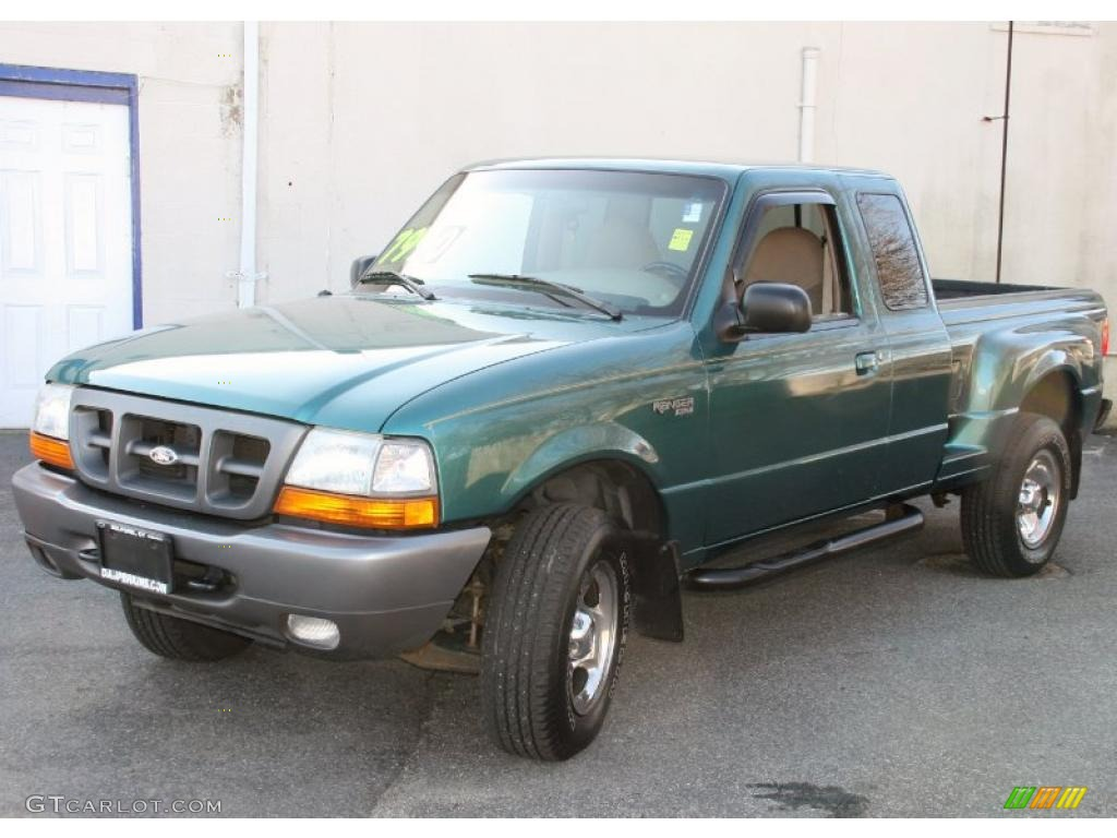 Pacific green metallic ford ranger