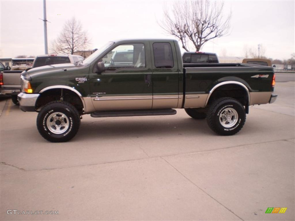 Dark hunter green metallic ford f250 super duty