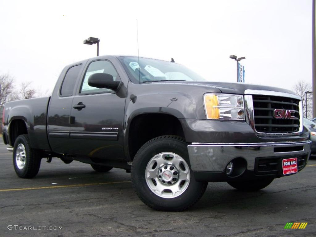 2010 steel gray metallic gmc sierra 2500hd sle extended. Black Bedroom Furniture Sets. Home Design Ideas