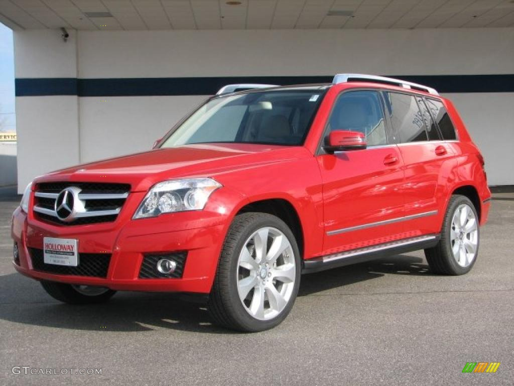 2010 mars red mercedes benz glk 350 4matic 26935583 photo