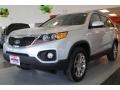 2011 Bright Silver Kia Sorento EX AWD  photo #3