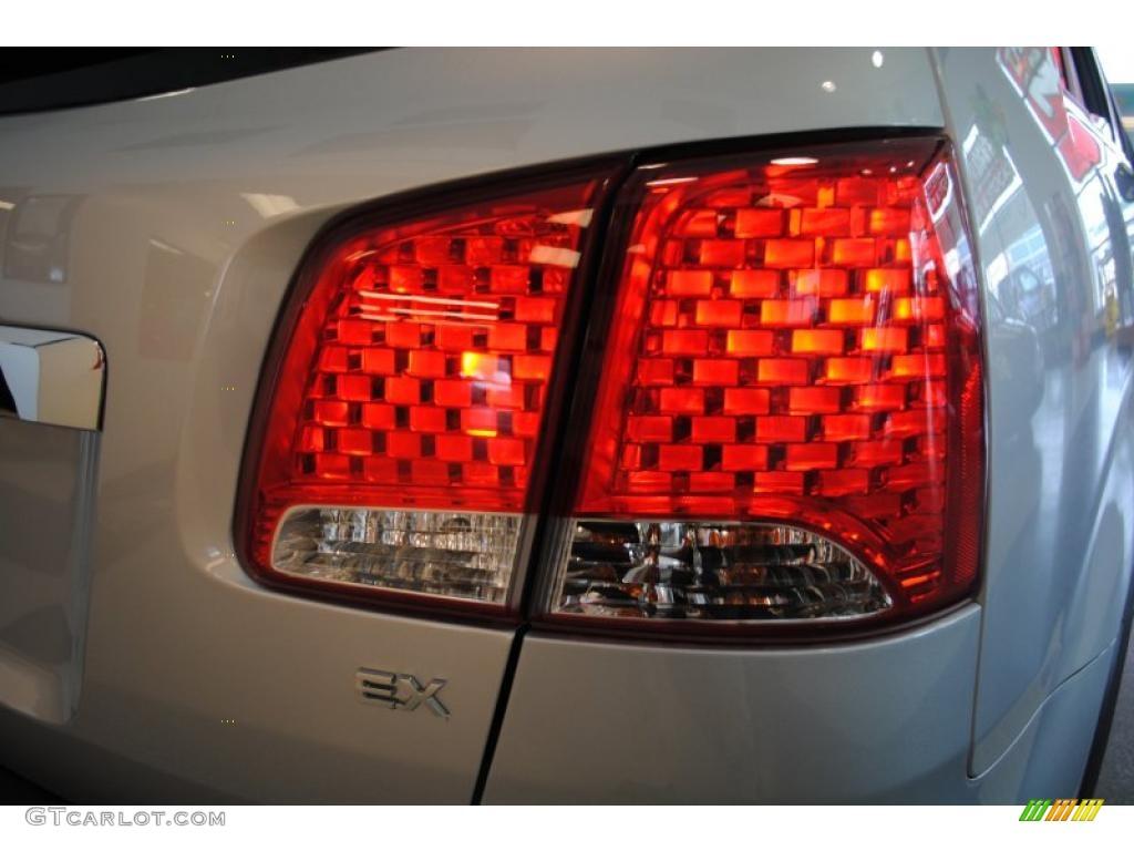 2011 Sorento EX AWD - Bright Silver / Black photo #56