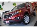 2011 Spicy Red Kia Sorento EX AWD  photo #1