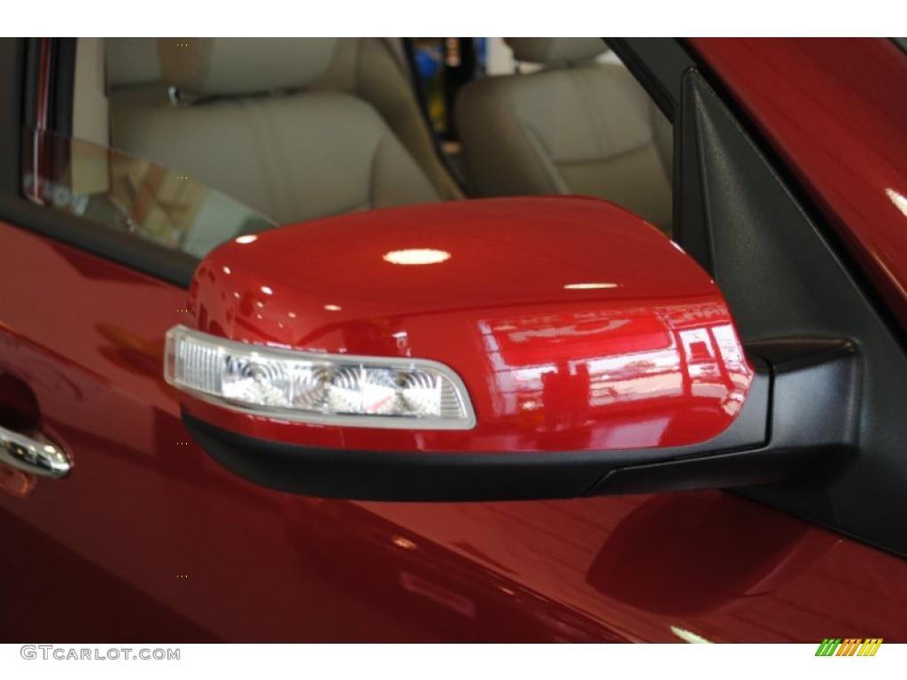 2011 Sorento EX AWD - Spicy Red / Beige photo #52