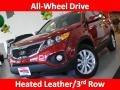 2011 Spicy Red Kia Sorento EX AWD  photo #54