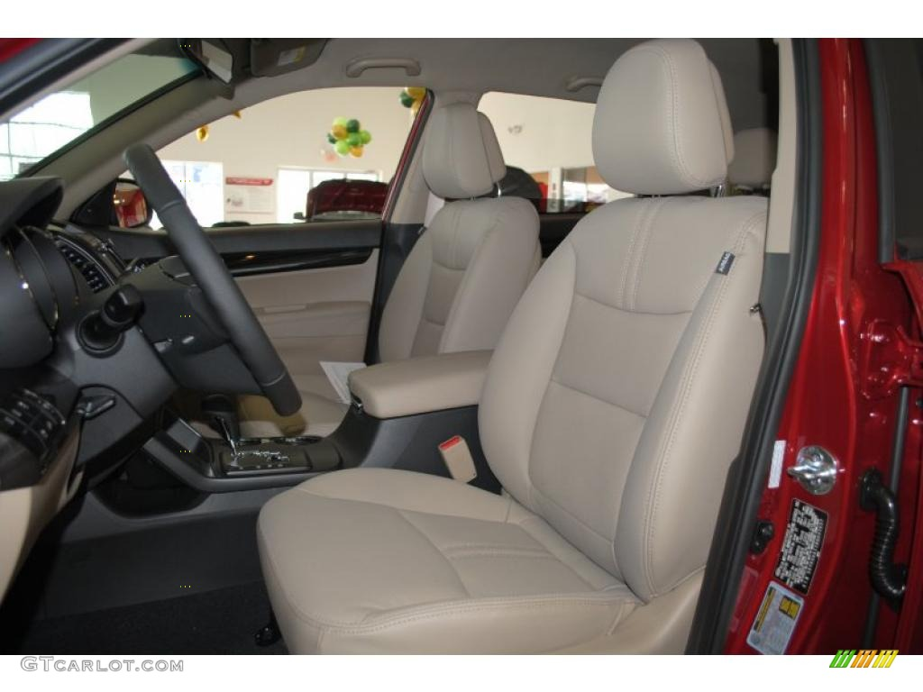 2011 Sorento EX - Spicy Red / Beige photo #15