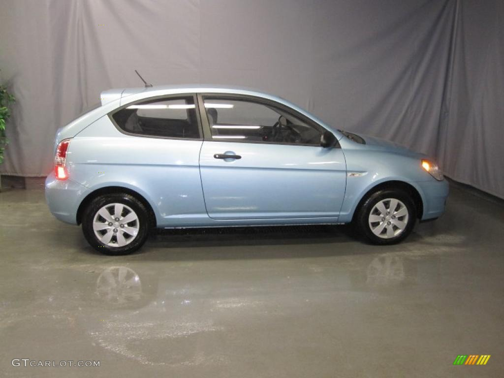 2008 Accent GS Coupe   Ice Blue / Gray Photo #4