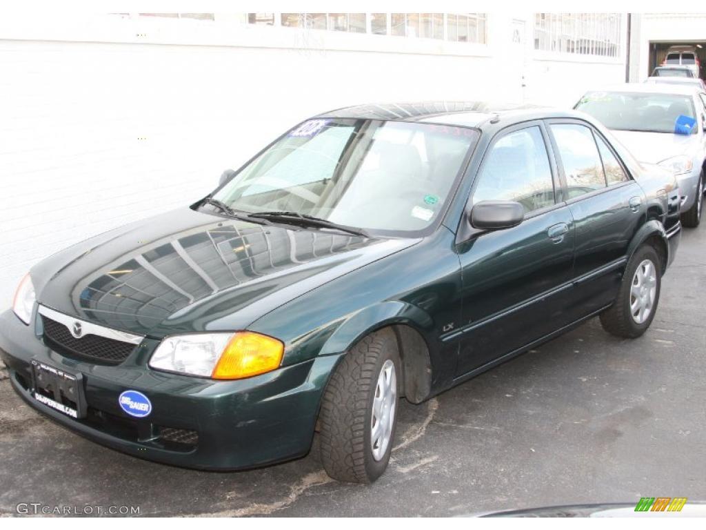 Emerald Green Mica Mazda Protege. Mazda Protege LX