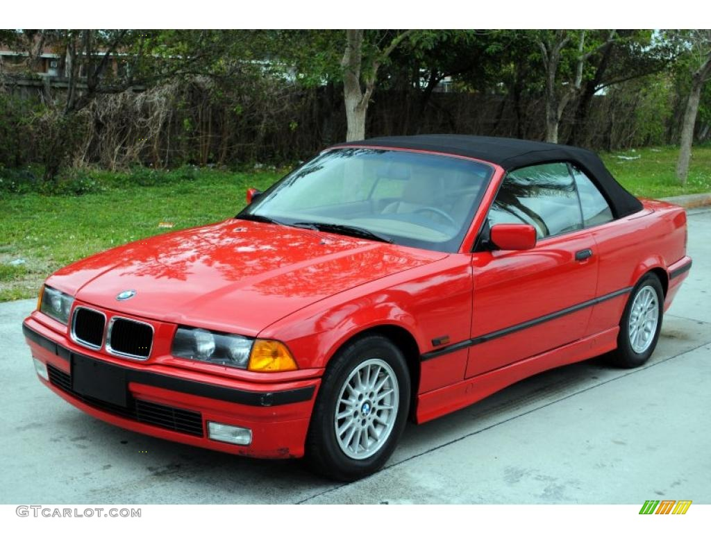 1996 bright red bmw 3 series 328i convertible 26996678 car color galleries. Black Bedroom Furniture Sets. Home Design Ideas