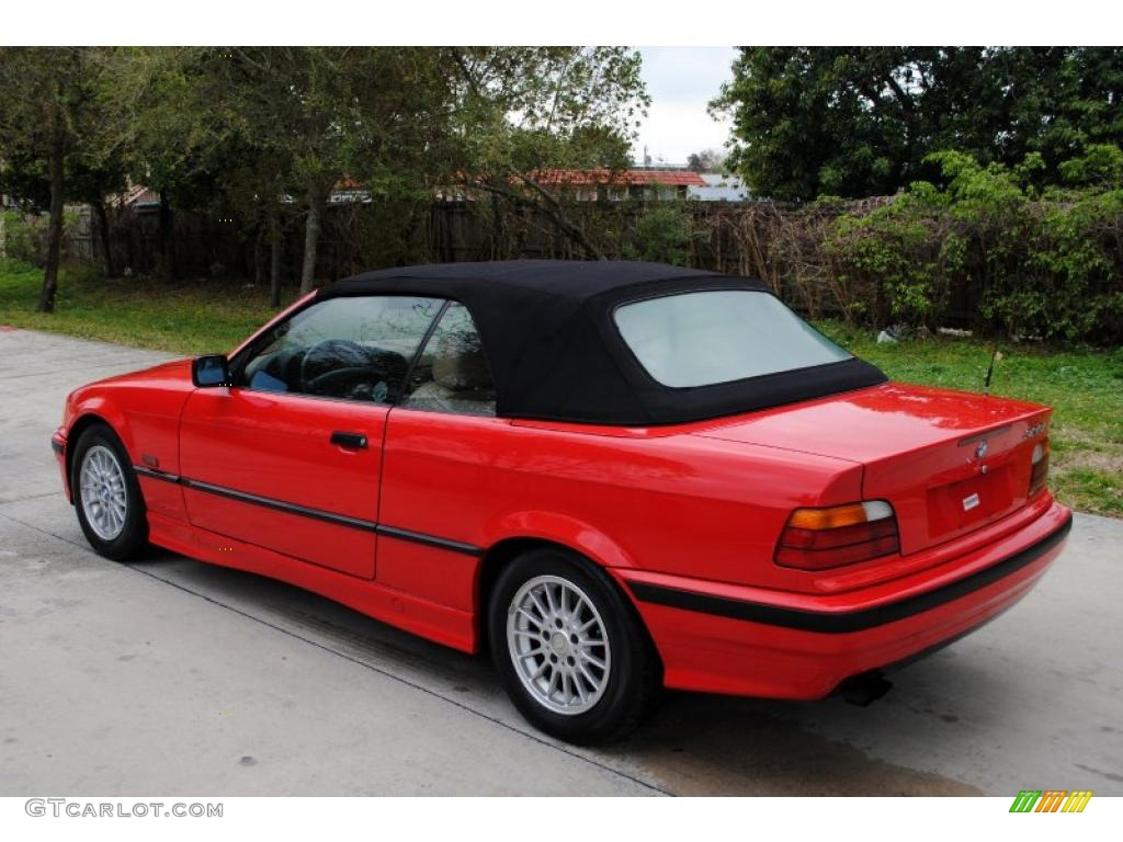 bright red 1996 bmw 3 series 328i convertible exterior. Black Bedroom Furniture Sets. Home Design Ideas