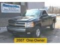 Black 2008 Chevrolet Silverado 1500 Z71 Regular Cab 4x4