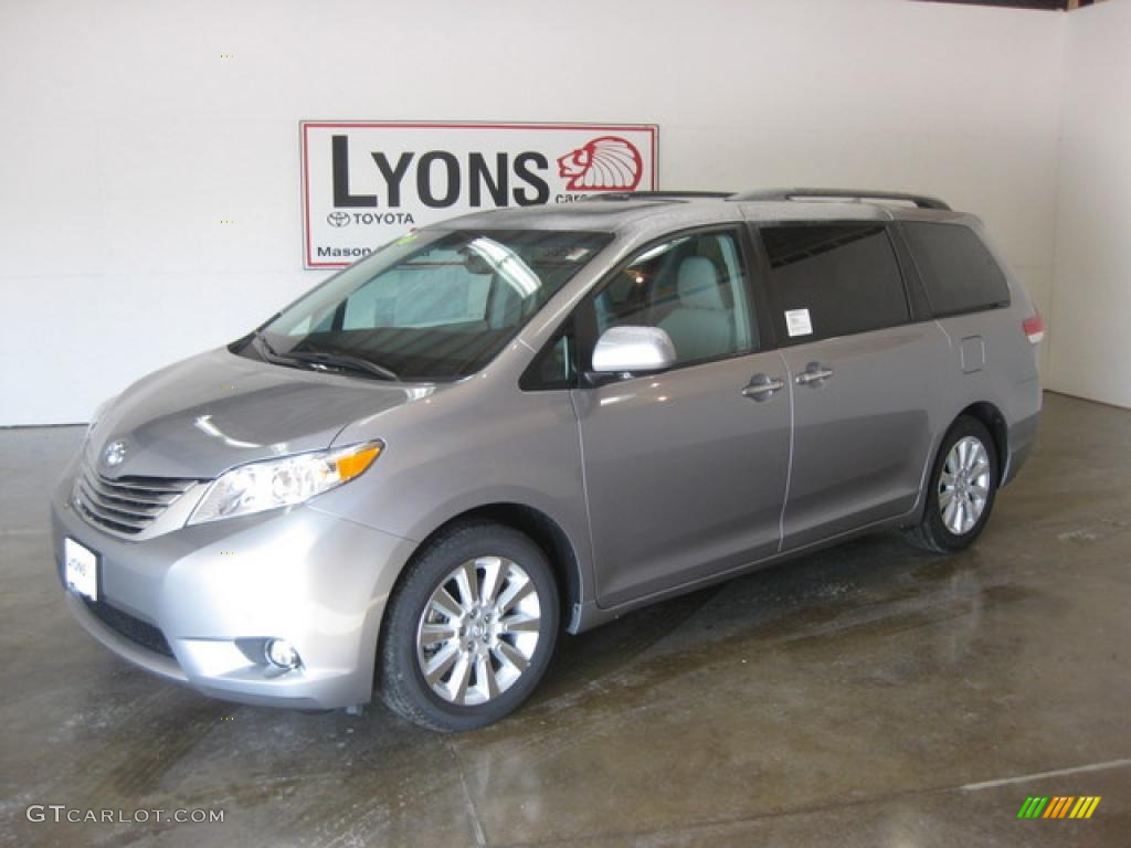 2011 Sienna Limited - Silver Sky Metallic / Light Gray photo #1