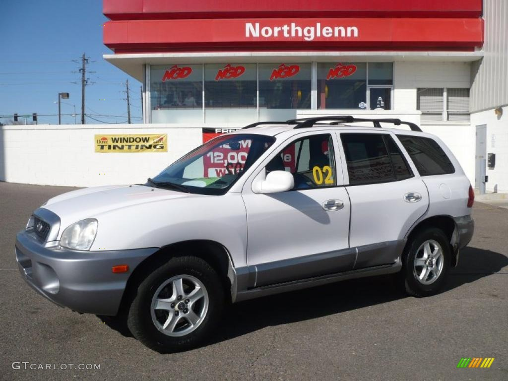 2002 nordic white hyundai santa fe lx awd 26996554 gtcarlot com car color galleries gtcarlot com
