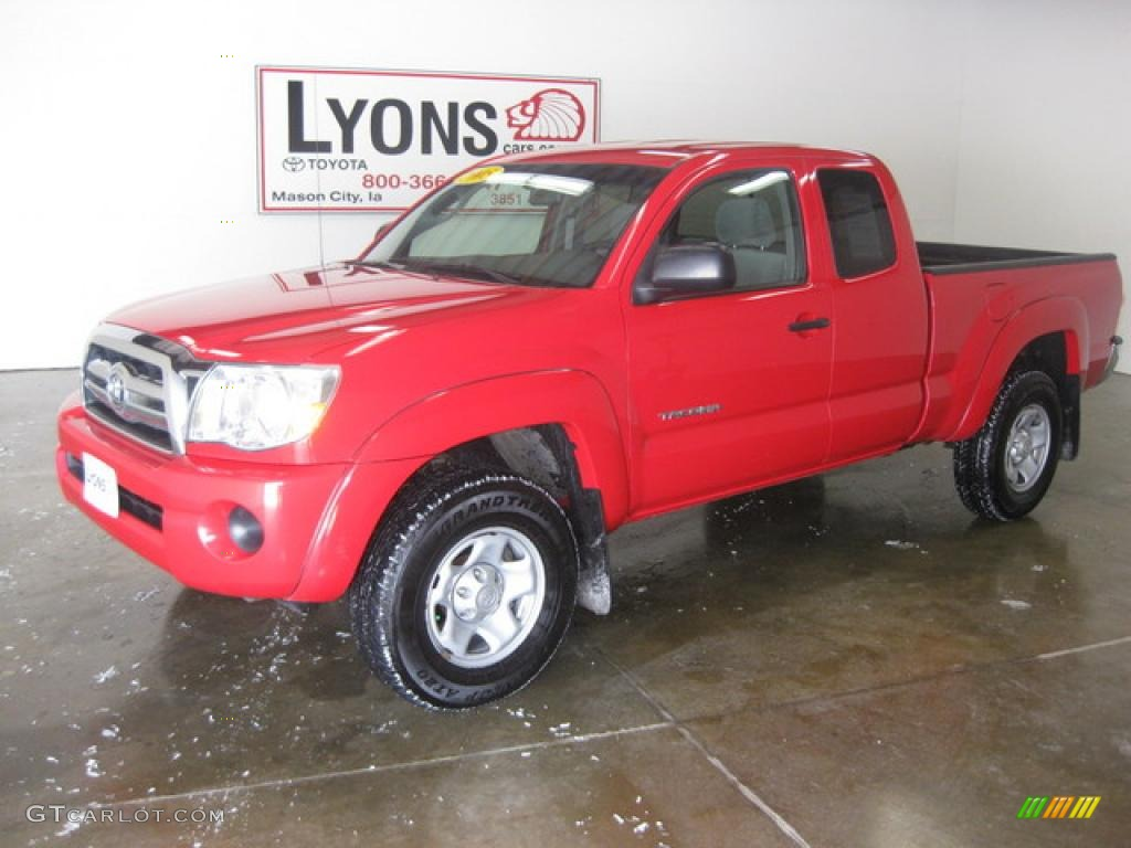 2005 radiant red toyota tacoma access cab 4x4 26996339. Black Bedroom Furniture Sets. Home Design Ideas