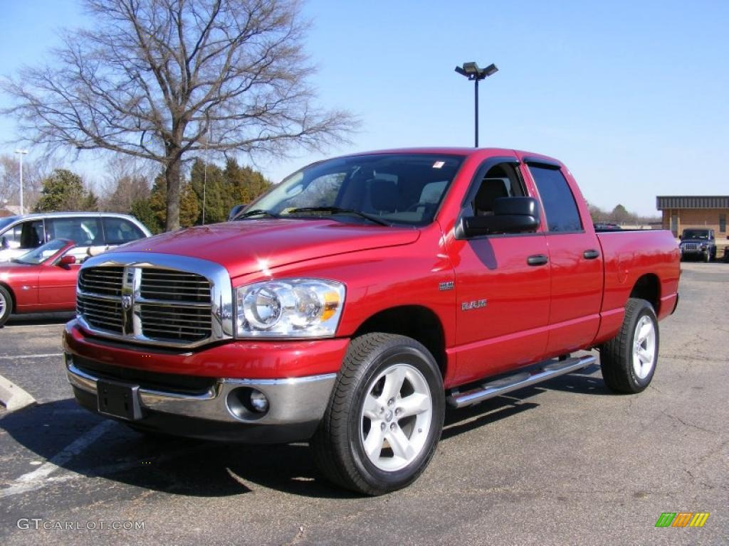 2008 flame red dodge ram 1500 big horn edition quad cab 4x4 26996905 car color. Black Bedroom Furniture Sets. Home Design Ideas