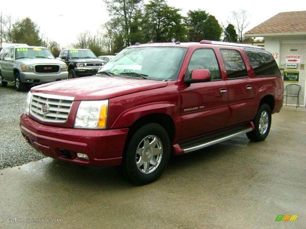 2004 escalade esv awd red e pewter gray photo 1