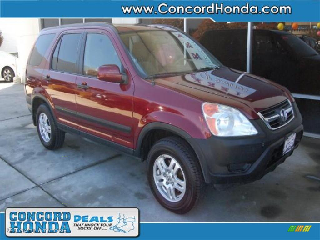2002 chianti red pearl honda cr v ex 4wd 27066796 car color galleries. Black Bedroom Furniture Sets. Home Design Ideas