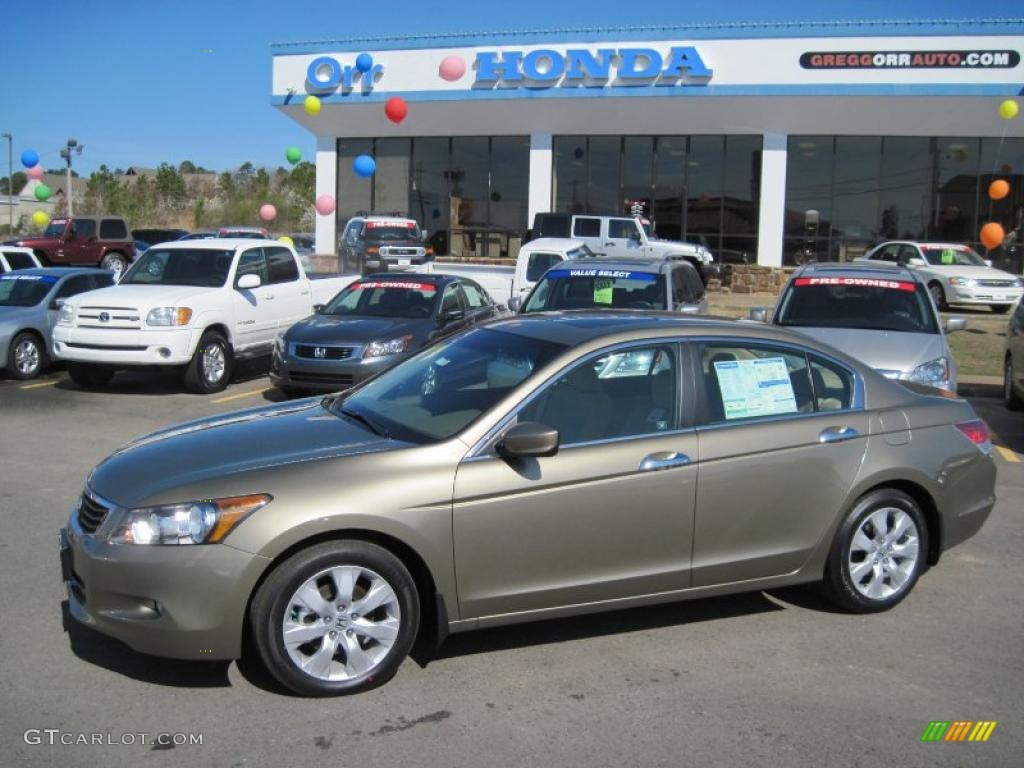 2010 bold beige metallic honda accord ex l v6 sedan. Black Bedroom Furniture Sets. Home Design Ideas