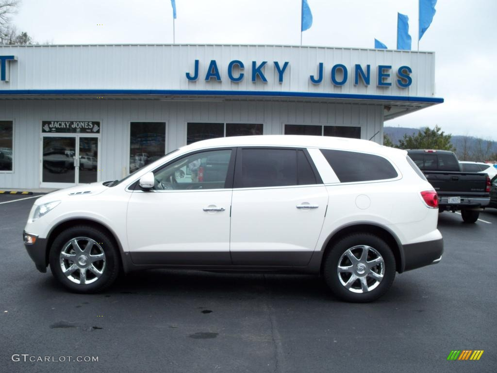 2009 Enclave CXL AWD - White Opal / Cocoa/Cashmere photo #1