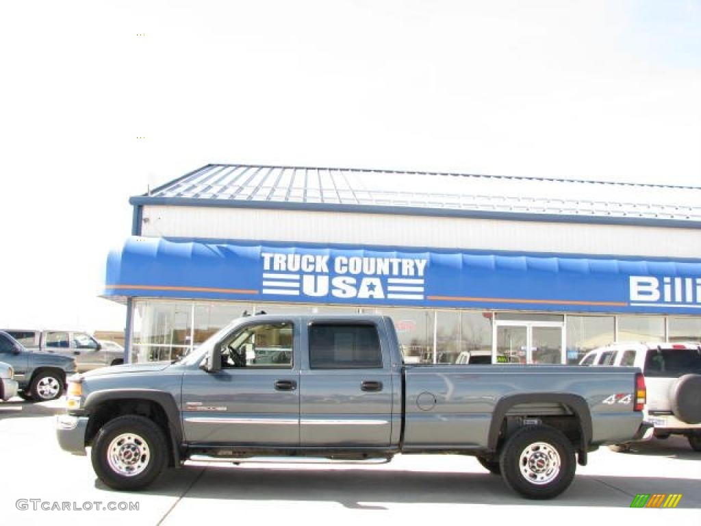 2007 Sierra 2500HD Classic SLT Crew Cab 4x4 - Stealth Gray Metallic / Medium Gray photo #1