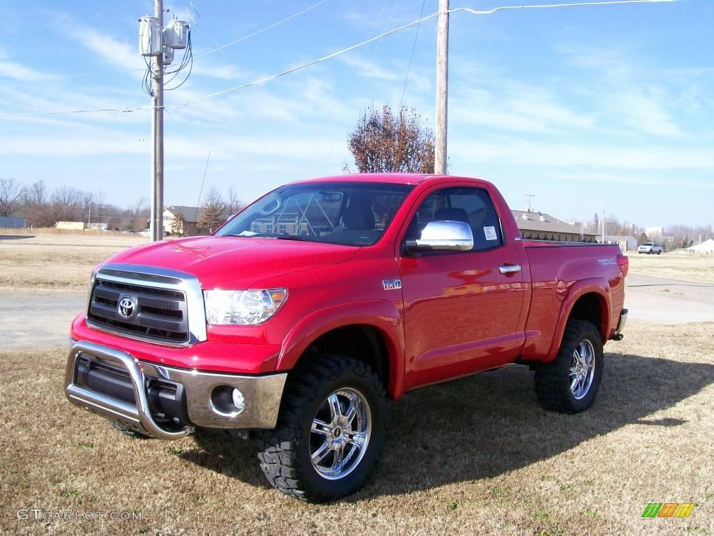 2010 Radiant Red Toyota Tundra Regular Cab 4x4 27169200 Gtcarlot