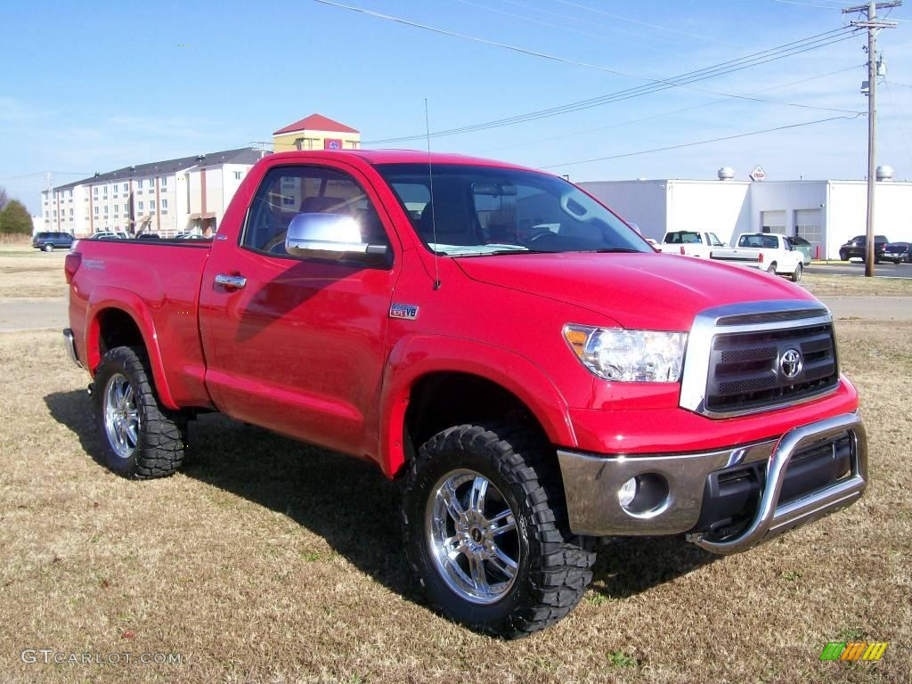2010 radiant red toyota tundra regular cab 4x4 27169200 photo 2 car color. Black Bedroom Furniture Sets. Home Design Ideas