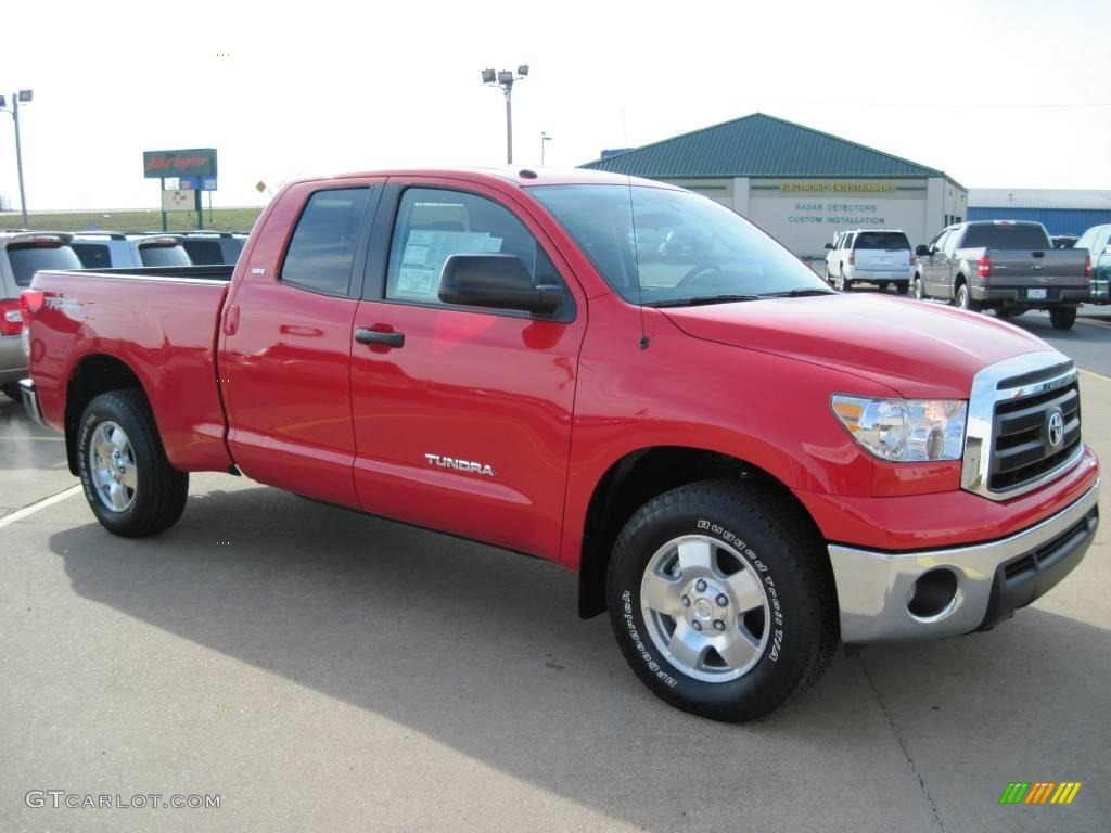 2010 radiant red toyota tundra sr5 double cab 27169202 car color galleries. Black Bedroom Furniture Sets. Home Design Ideas