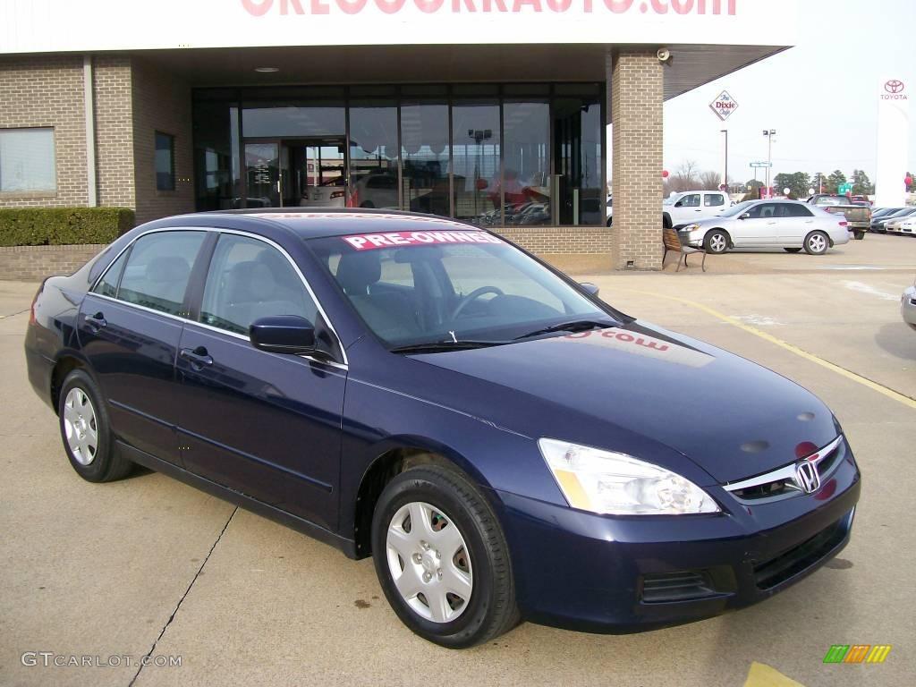 2006 Royal Blue Pearl Honda Accord Lx Sedan 27169243 Gtcarlot Com