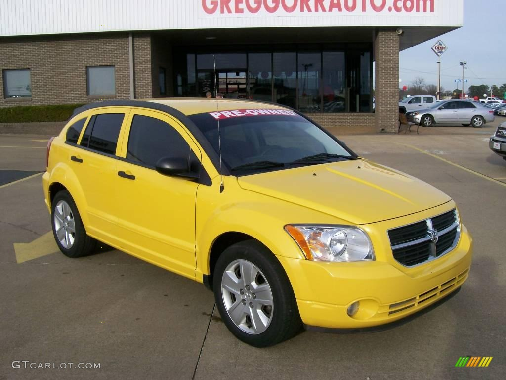 2007 solar yellow dodge caliber sxt 27169252 car color galleries. Black Bedroom Furniture Sets. Home Design Ideas
