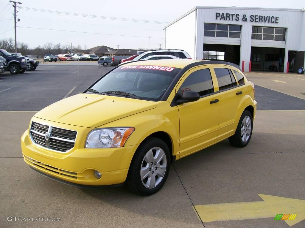 2007 solar yellow dodge caliber sxt 27169252 photo 2 car color galleries. Black Bedroom Furniture Sets. Home Design Ideas