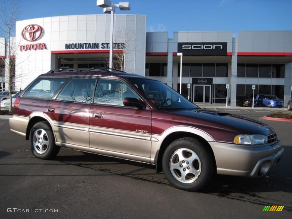 1999 legacy limited outback wagon winestone pearl gray photo 1