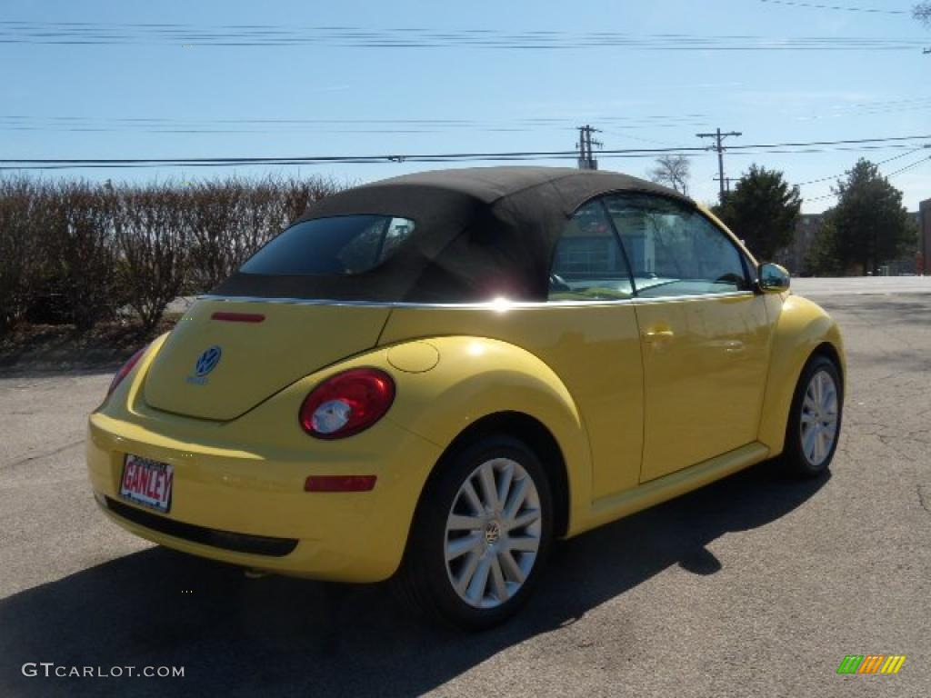 2008 sunflower yellow volkswagen new beetle se convertible 27168958 photo 5. Black Bedroom Furniture Sets. Home Design Ideas