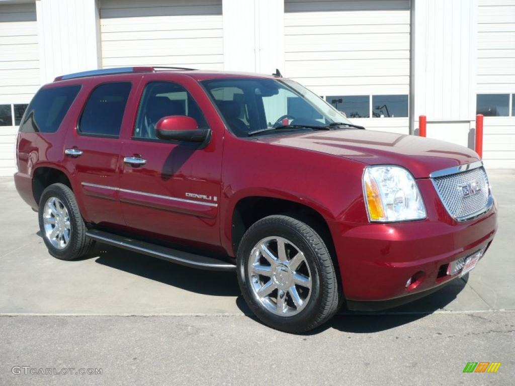 2008 yukon denali awd red jewel tintcoat ebony photo 1