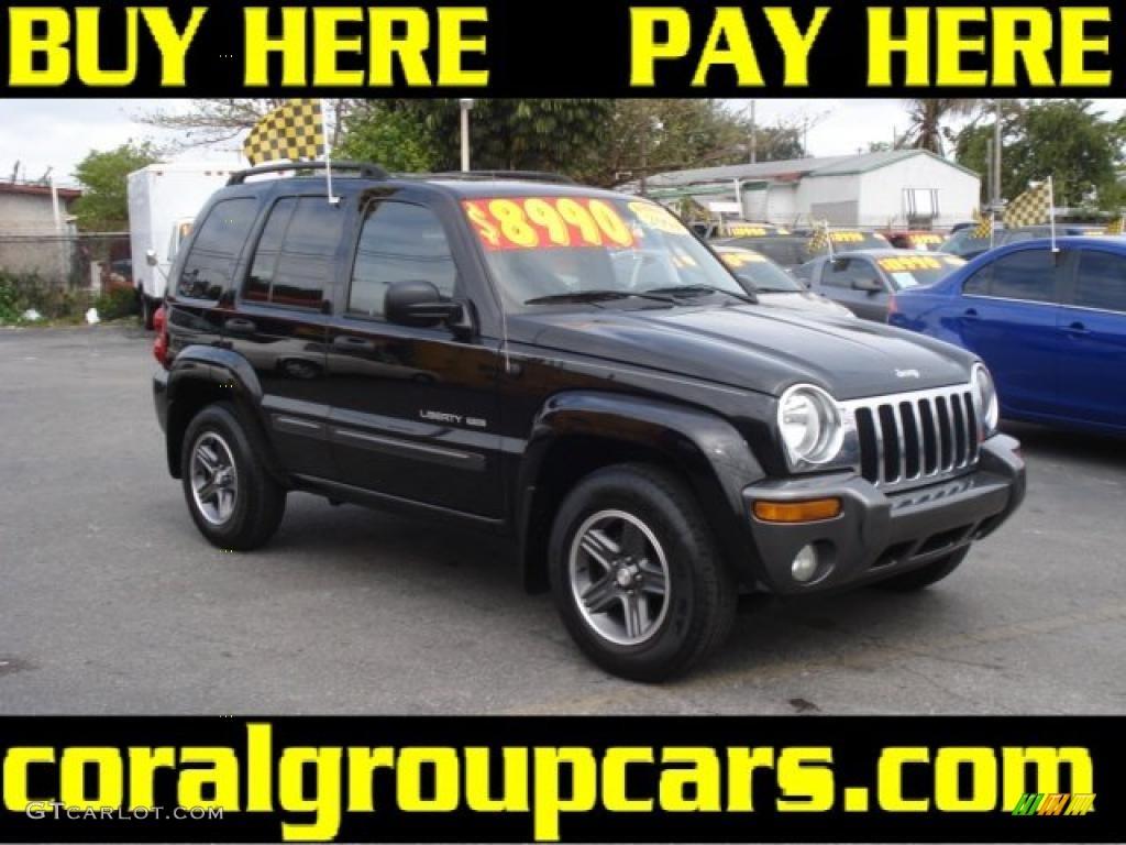 2004 black clearcoat jeep liberty sport columbia edition 27170027 car color. Black Bedroom Furniture Sets. Home Design Ideas