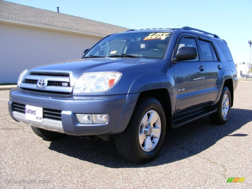2004 pacific blue metallic toyota 4runner sr5 4x4 27169872 car color galleries. Black Bedroom Furniture Sets. Home Design Ideas