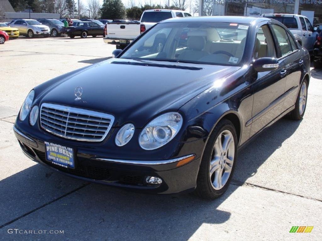 2005 midnight blue mercedes benz e 500 sedan 27235190 for Mercedes benz color