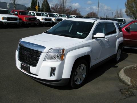 2010 Summit White GMC Terrain SLE AWD