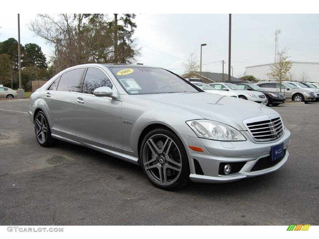 2008 iridium silver metallic mercedes benz s 63 amg sedan for Mercedes benz silver