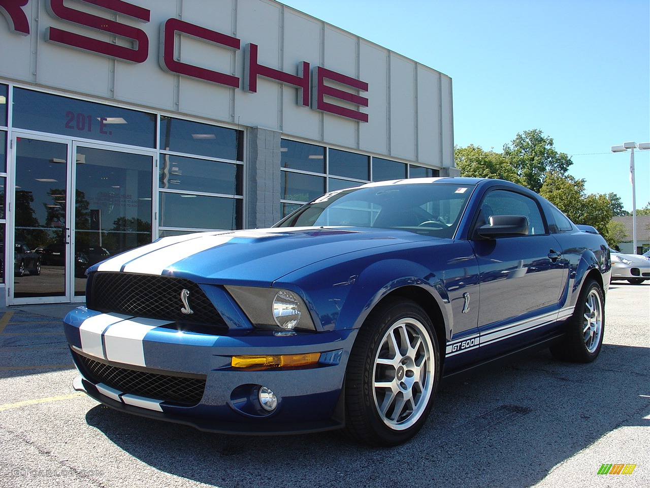Vista blue metallic ford mustang ford mustang shelby gt500 coupe
