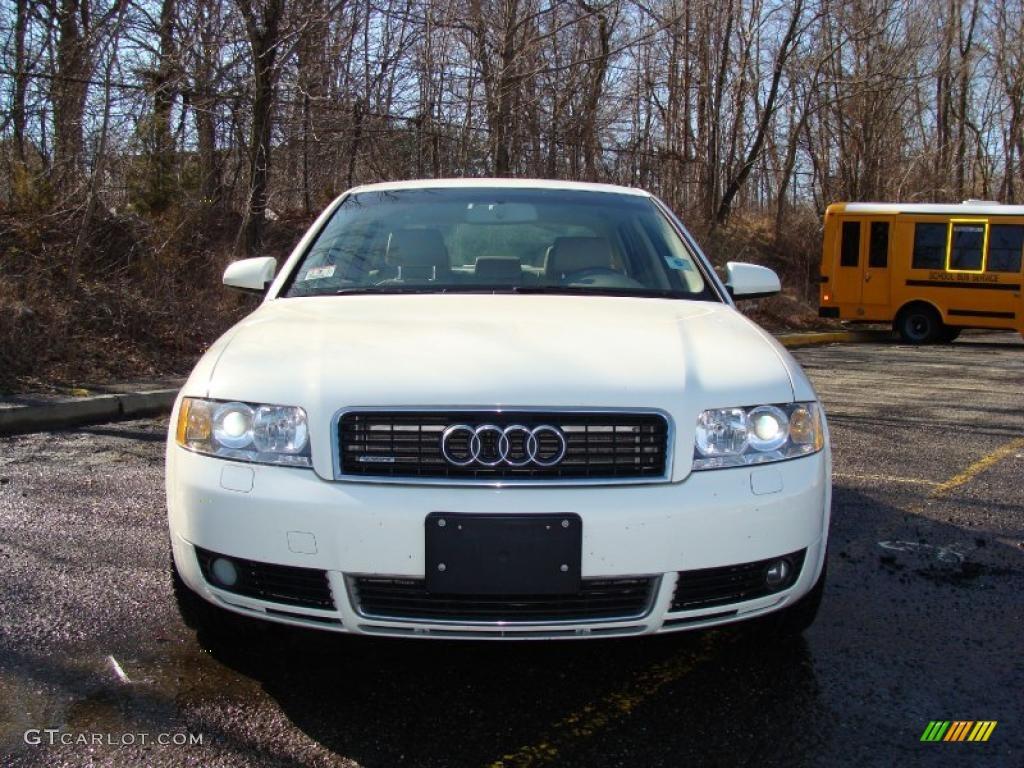 2004 arctic white audi a4 1.8t quattro sedan #27235362 photo #2