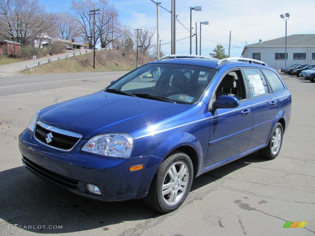 2006 Forenza Wagon Cobalt Blue Metallic Grey Photo 5