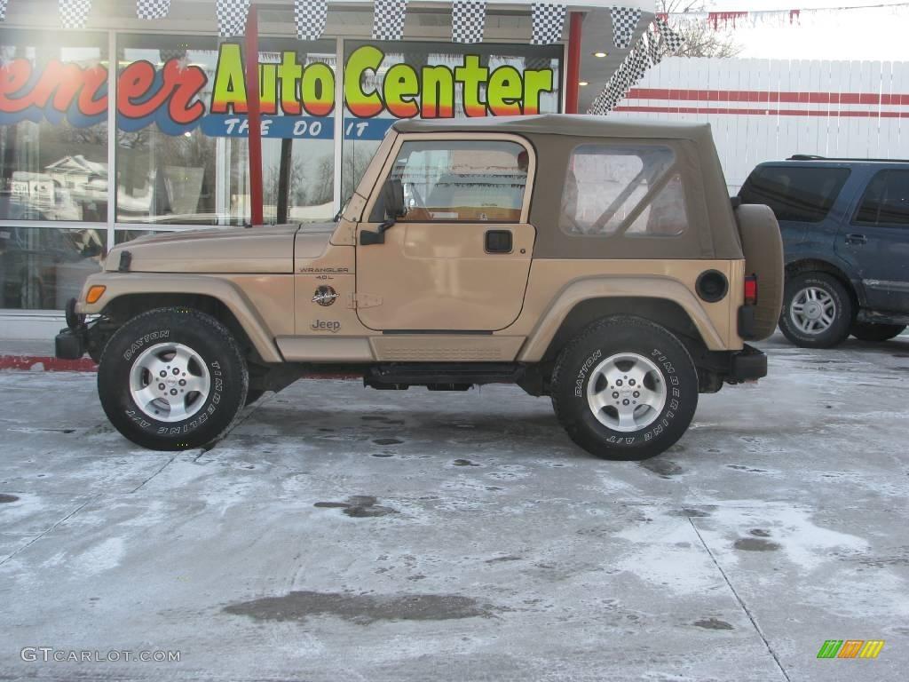 1999 Desert Sand Pearlcoat Jeep Wrangler Sahara 4x4 #2725024 ...