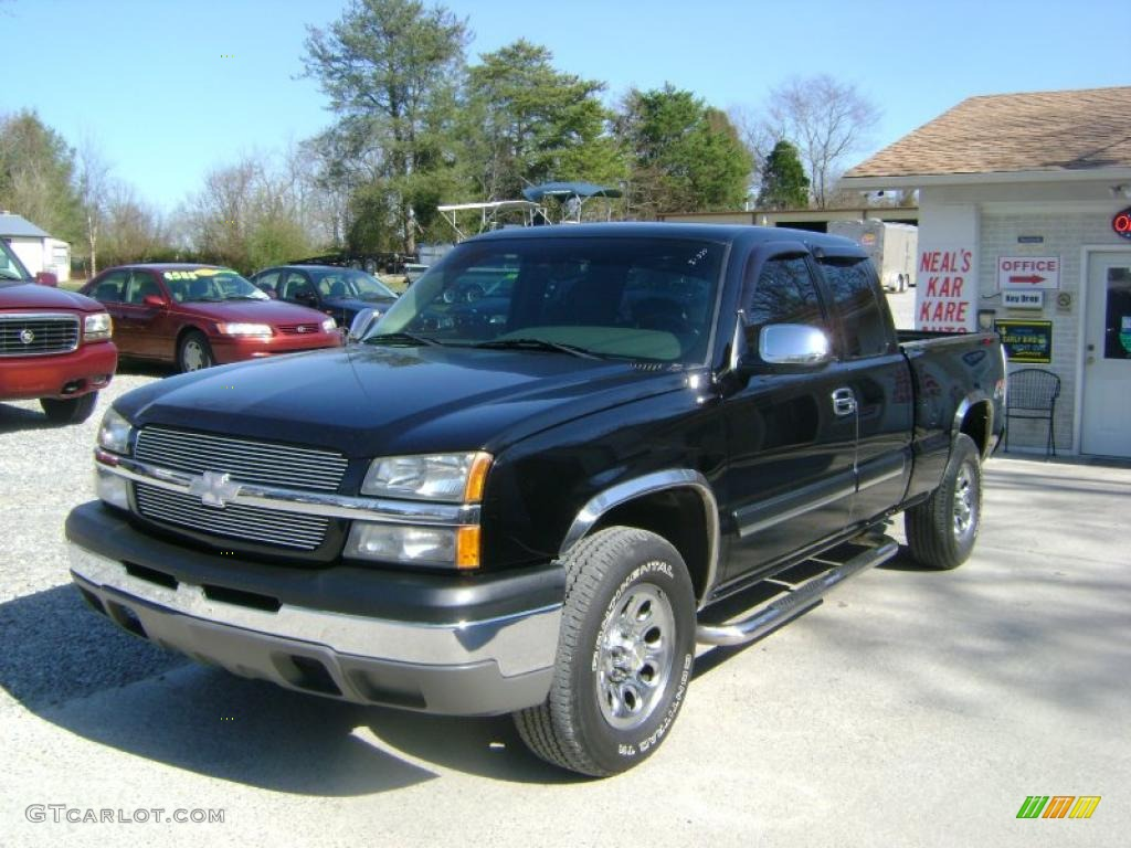 2004 black chevrolet silverado 1500 ls extended cab 4x4. Black Bedroom Furniture Sets. Home Design Ideas