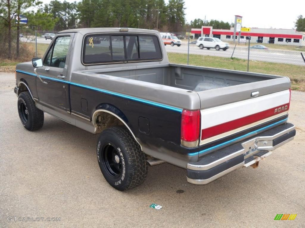 1988 f150 xlt lariat regular cab 4x4 silver metallic blue photo 5