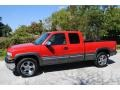 2000 Victory Red Chevrolet Silverado 1500 LS Extended Cab 4x4  photo #2