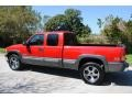 2000 Victory Red Chevrolet Silverado 1500 LS Extended Cab 4x4  photo #3