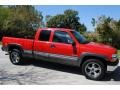 2000 Victory Red Chevrolet Silverado 1500 LS Extended Cab 4x4  photo #9